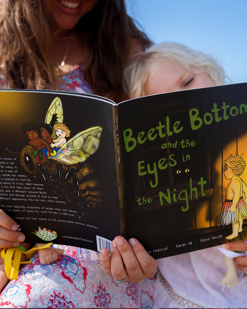 Beetle Bottoms and the Eyes in the Night illustrated by NZ artist Fiona Whyte