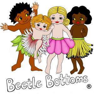 Beetle Bottoms illustrated by New Zealand artist Fiona Whyte
