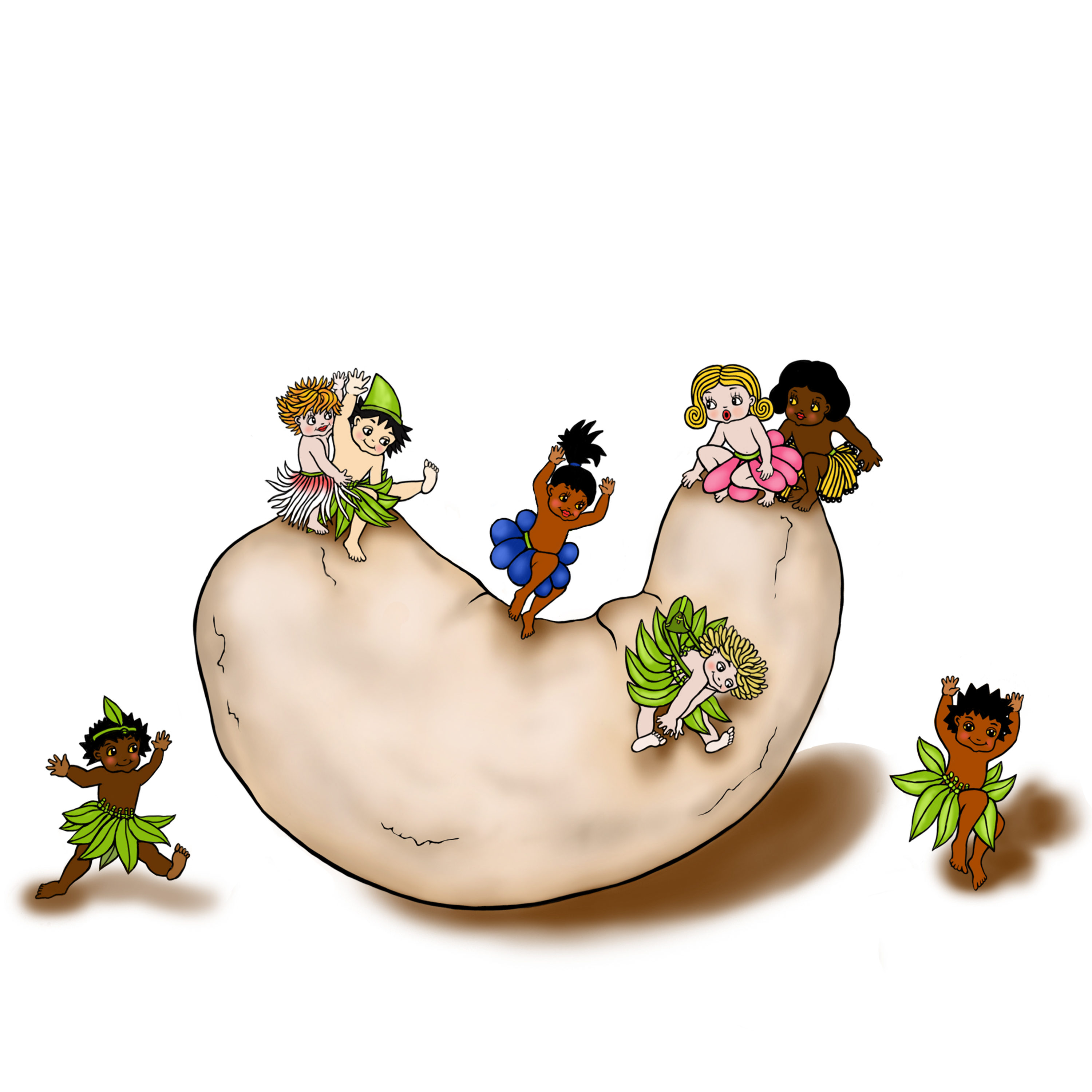 cashew illustrated by NZ artist Fiona Whyte
